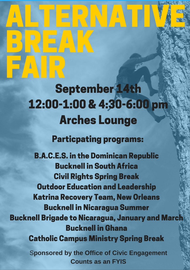 Alternative Break Fair and other fun activities!